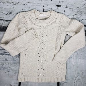 Cream Gap Kids Seater Cable Knit Sequins Large 10